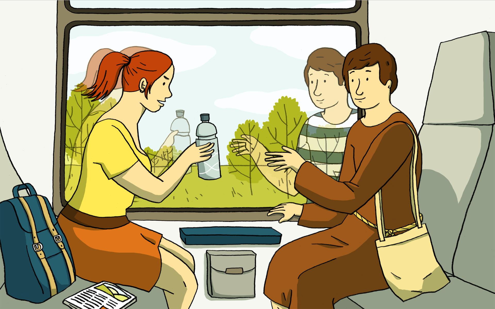 Bijbelse vrouwen, ook op de trein
