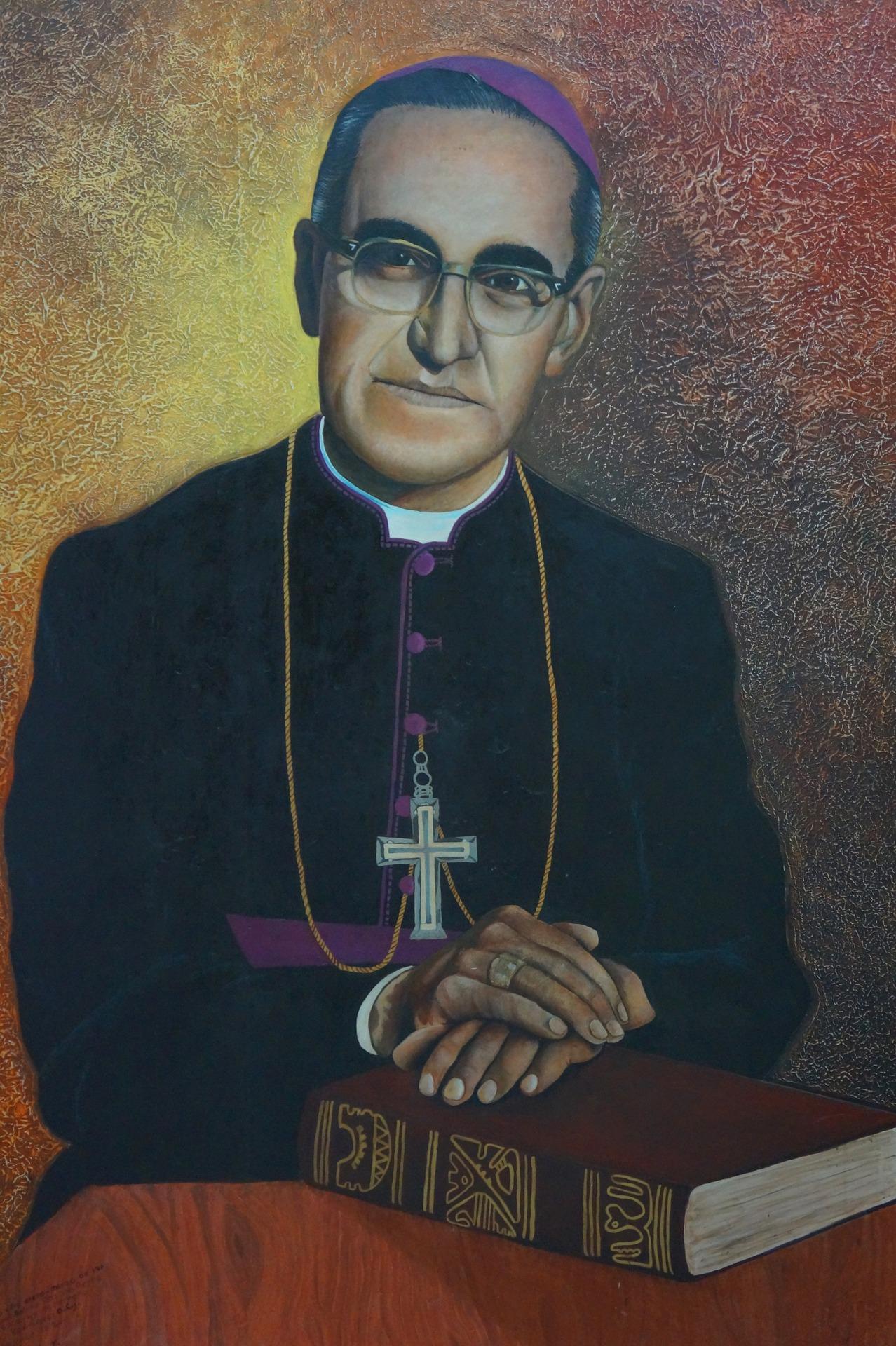 Een heilige met een bril