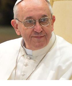 Aan tafel bij de paus